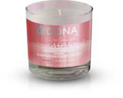 Массажная свеча DONA Scented Massage Candle Blushing Berry FLIRTY (135гр) с афродизиаками феромонами