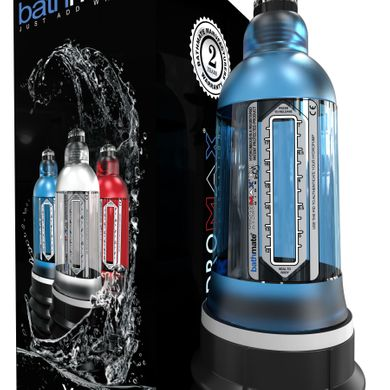 Гидропомпа Bathmate Hydromax X30 Wide Boy Aqua Blue, Синий, Синий